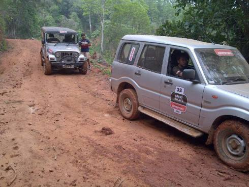 Picture taken at an offroading event at Shillong.